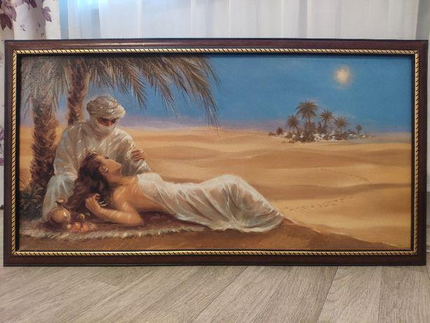Картина - АЗИЯ, пустыня, оазис