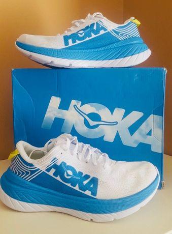 Кроссовки для бега Hoka Carbon X Blue White (1102887-WDBL)