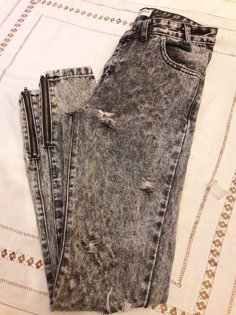 Super spodnie Jeansy Rurki Glamorous Marmurki! Roz. 38! Nowe! Śliczne