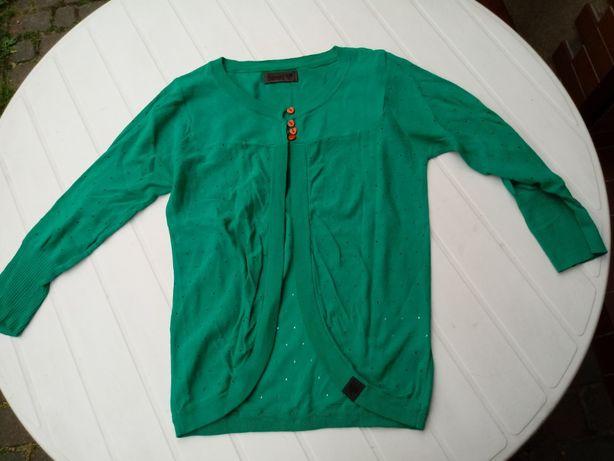 zielony sweterek idealny rozmiar 36-38