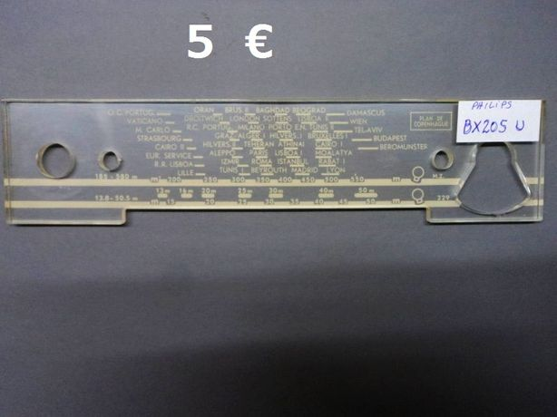 Quadrantes de rádios antigos, escalas de radios a válvulas - Philips