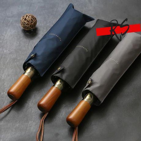 Благородный мужской мощный зонт Автомат Рarachase 113 см диаметр