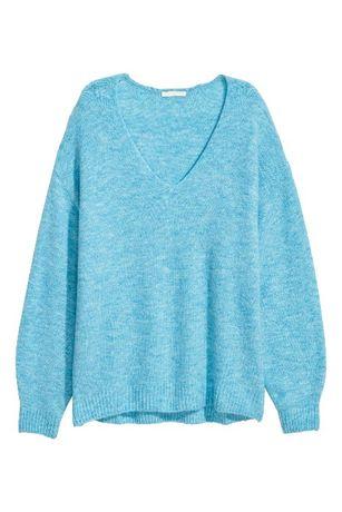 sweterek w niebieskim kolorze firmy H&M