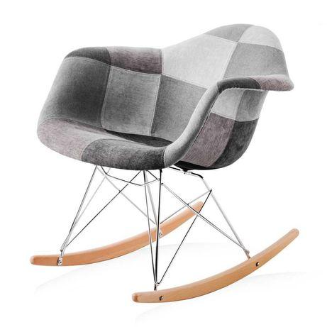 Modne krzesło bujane fotel bujany Gaja nowy szary