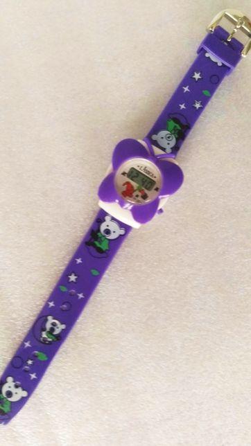 Детские часы в виде бабочки, электронные, пластиковые, новые