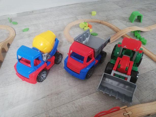 Autka Lena traktor ciężarówka betoniarka zestaw