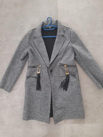 Śliczny płaszcz szary rozmiar 38