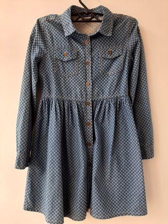 Платье джинсовое 128р
