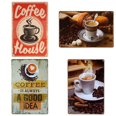Ретро металлические таблички 20х30см Кофе Coffee
