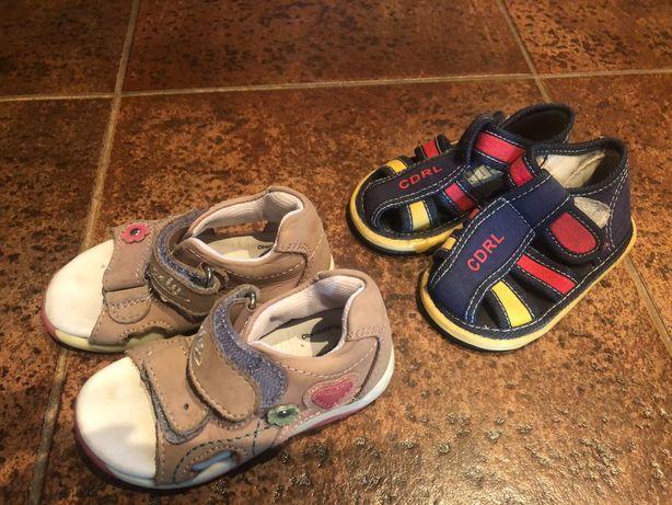 Sandałki skórzane dla dziewczynki r.21 sandałki kolorowe r.20