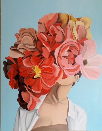 Картина маслом на холсте Пионы Цветы Эмми Джад