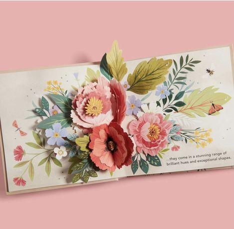 Pop-up Flora a botanical book ,книга с обьемными рисунками