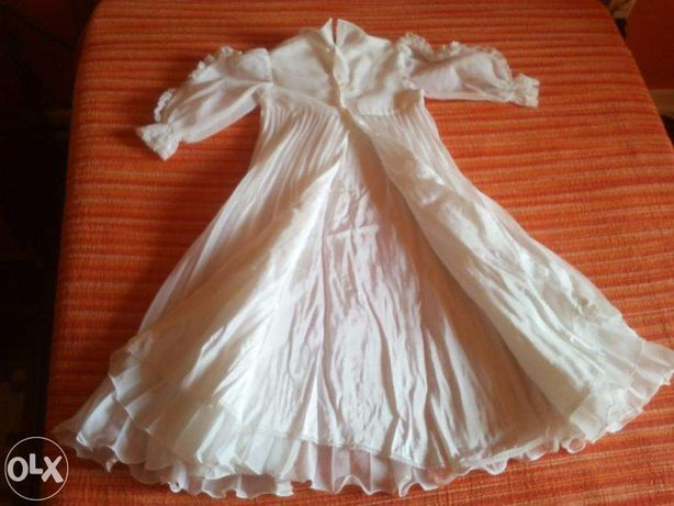 Conjunto com Vestido de Baptizado