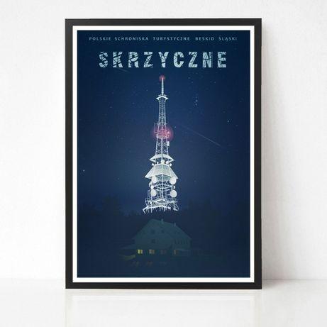Plakat Skrzyczne seria Polskie Schroniska Turystyczne Beskid Śląski