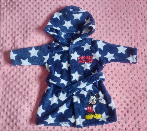 Szlafrok Mickey Mouse/Myszka Mickey dla noworodka 0-3
