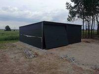 Garaż blaszany 6x5, ciemny grafit, garaże, wiaty,4×6,3x5,6x7 producent