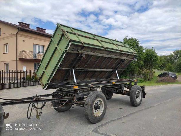 Przyczepa wywrotka HL 6011 zarejestrowana 6 ton nadstawki