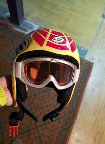 Brico kask i gogle narciarskie dla dzieci