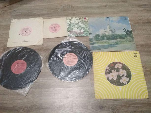 Пластинки разных размеров 7 шт., советская эстрада