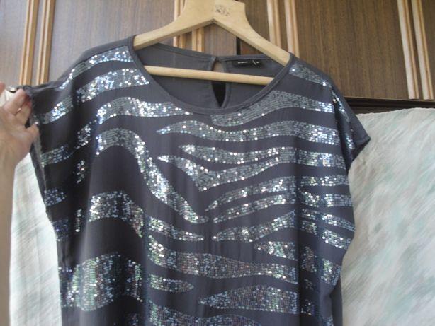 Красивая блузка в пайетках. Вискоза 100%. 52 - 54 р