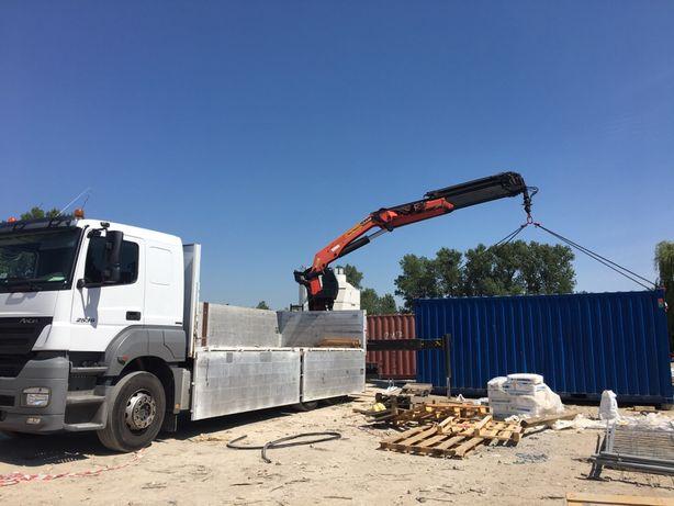 Transport HDS kontenery maszynymateriały budowlane,usługi dźwigowe 17m