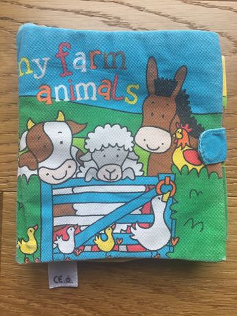 Książeczka edukacyjna nauka angielskiego przez zabawę animals