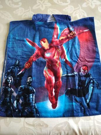 Полотенце пончо пляжное для мальчика Marvel