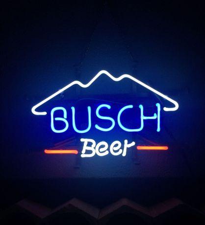 Reclame luminoso NÉON cerveja Americana BUSCH