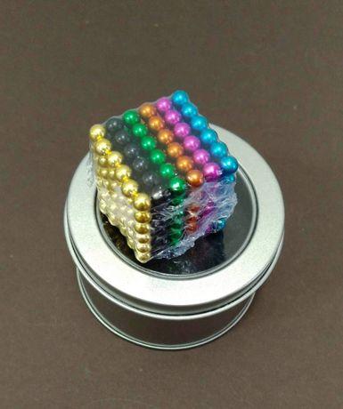 Игрушка Радужный НеоКуб магнитные шарики 5мм 216 конструктор Neocube