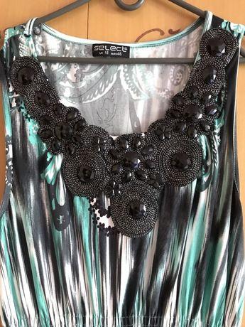 Длинное платье в пол сарафан с красивой вышивкой камнями, р. 48-50