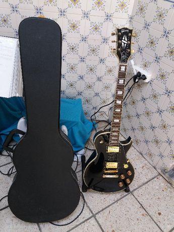 guitarra eletrica gibson les paul custom replica em bom estado.com est