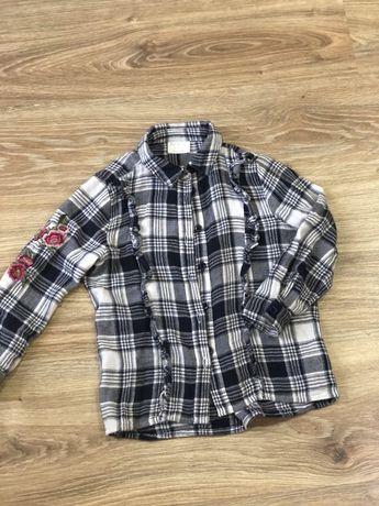 Рубашка в клеточку с вышивкой