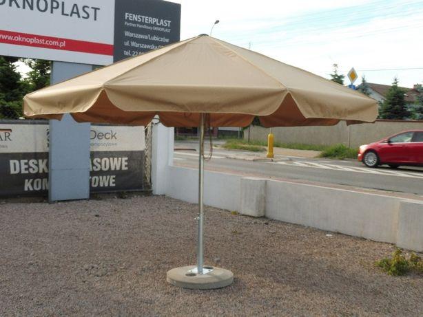 Parasol 8 ramienny ogródki plenerowe restauracyjne 350 cm beżowy