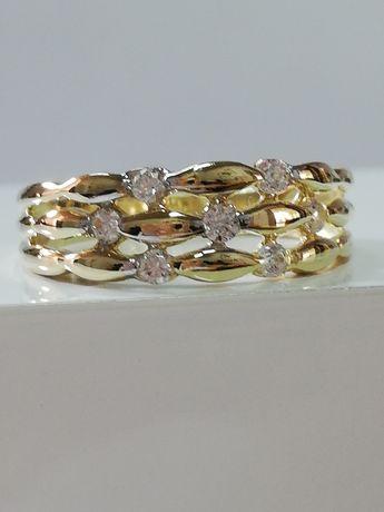 SZEROKI złoty pierścionek Śliczny SZEROKI konkret EXTRA