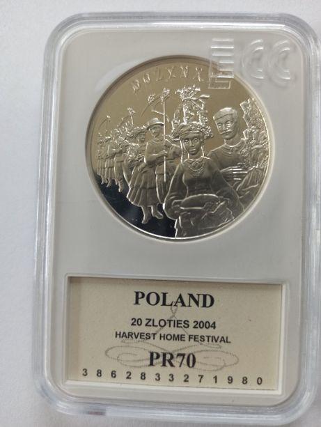 20 zł Dożynki grading PR70 srebro 925 zamiana
