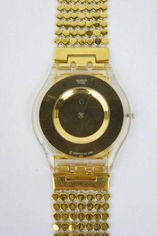 Relógio Swatch Skin Dourado