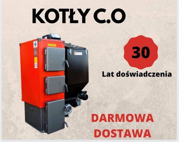 100 m2 KOTLY 16 kW Piece z PODAJNIKIEM na EKOGROSZEK Kociol 13 14 15