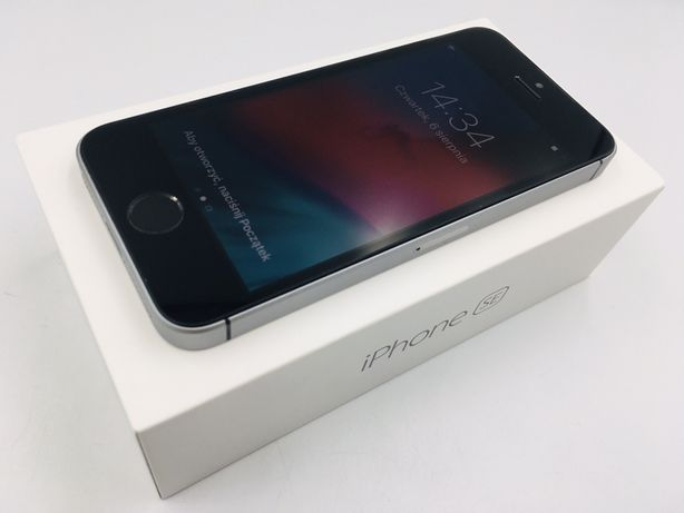 iPhone SE 64GB SPACE GRAY • NOWA bateria • GW 1 MSC • AppleCentrum