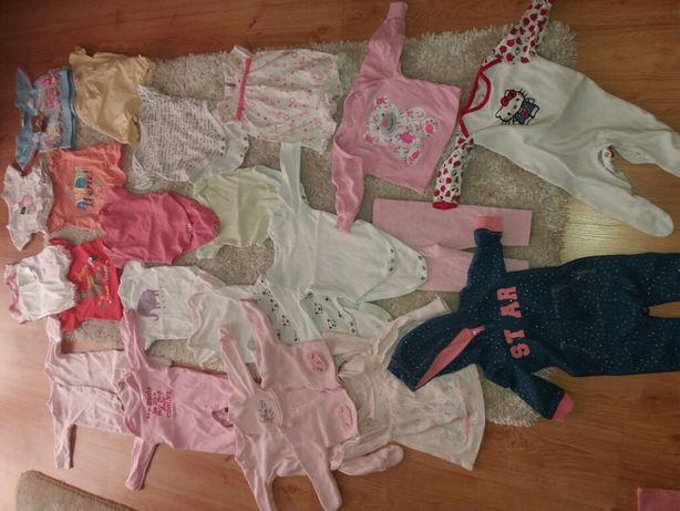 Ubranka dla dziewczynki roz 62-68