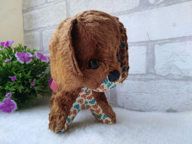 собака винтажная  плюш игрушка ГДР