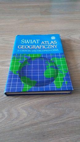 Świat atlas geograficzny z częścią encyklopedyczną