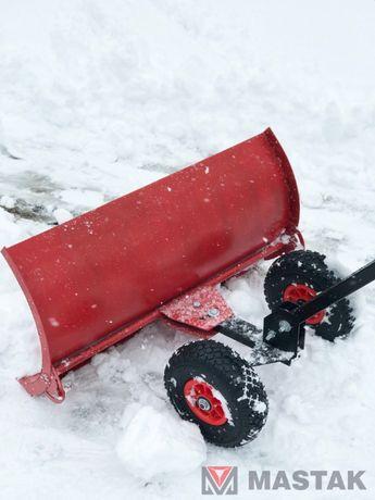 Лопата для чистки снега на колесах. Отвал для снега