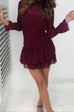 NOWA sukienka burgund