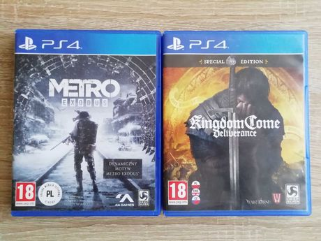 Metro Exodus + Kingdom Come Deliverance PS4 Wersje PL