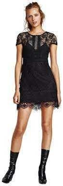 Vestido preto renda, Zara, S
