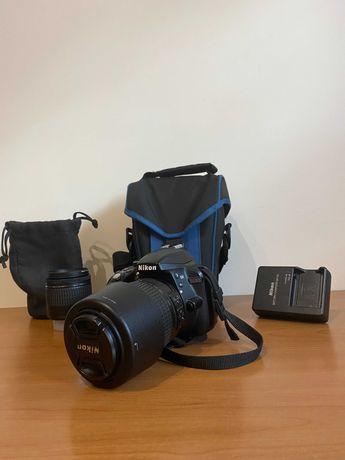 Máquina fotográfica NIKON D3300 + Objetiva 15-55mm + Objetiva 55-200mm