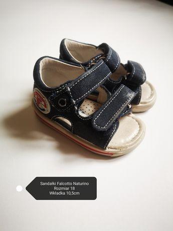 Sandałki Falcotto Naturino, sandałki r.18, butki dla dzieci, butki