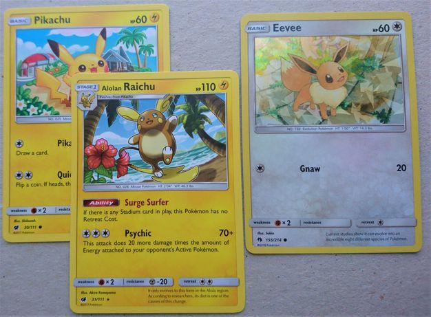 Cartas Pokémon á escolha (Raichu, Flareon,etc) ORIGINAIS