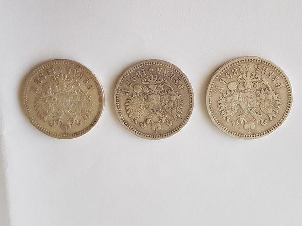 Zestaw 3 monet Rubel Mikołaj II