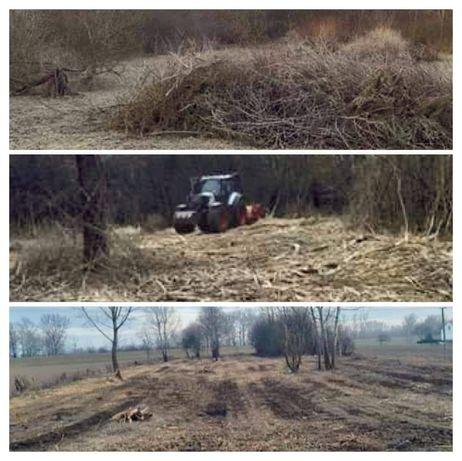 Mulczowanie wycinka mulczer lesny czyszczenie terenu działek rębak